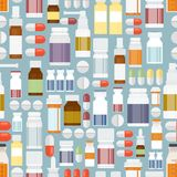 Pills and Drugs in Seamless Pattern Royalty Free Stock Photography