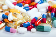 Pills,drugs and tablets. In colorful diversity Stock Photography
