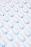 Pills on factory table Stock Photo
