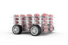Pills fast delivery Royalty Free Stock Image