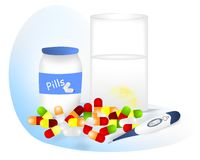 Pills for fever, cdr vector Royalty Free Stock Photography