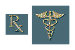 Pills formed into medical symbols Royalty Free Stock Photography