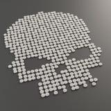 Pills forming a skull symbol Royalty Free Stock Photo