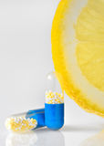 Pills för vitamin c Royaltyfri Fotografi
