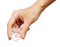 Pills in the hand Royalty Free Stock Images