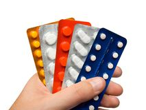Pills in hand Royalty Free Stock Photo