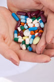 Pills in hands of doctor Royalty Free Stock Image