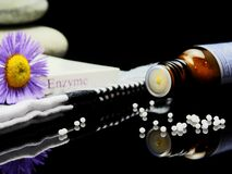 Pills and healing plant flower