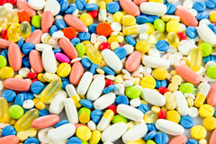 Pills . health antibiotic chemist drug Stock Image