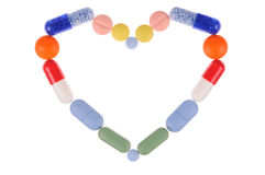 Pills Heart Stock Images