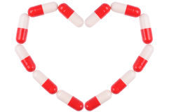 Pills Heart Stock Photography