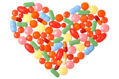 Pills Heart Royalty Free Stock Images