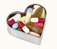 Pills heart Royalty Free Stock Photos