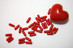 Pills for Heart Royalty Free Stock Image