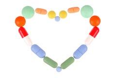 Pills Heart Royalty Free Stock Photos