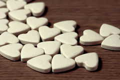 Pills in heart shape Royalty Free Stock Image