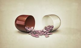 Pills heart shaped Stock Photography