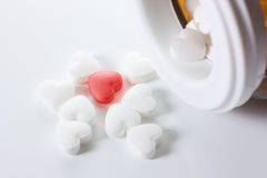 Pills Of Hearts. Unique heart. Concept love Royalty Free Stock Photos