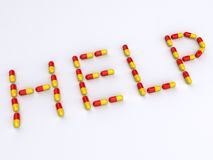 Pills : help Stock Image