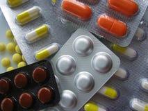 Pills i blåsapackar Arkivbilder