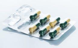 Pills i blåsapacke Fotografering för Bildbyråer