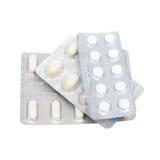 Pills i en blåsapacke Arkivfoton