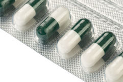 Pills i packe Arkivbild