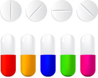 Pills icon set vector illustration Royalty Free Stock Image