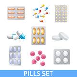 Pills Icons Set Stock Photography