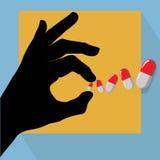 Pills illustration stock images