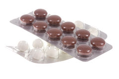 Pills on isolated Royalty Free Stock Image