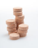 Pills isolated closeup Stock Photos
