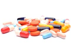 Pills isolated Stock Images