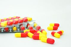 Pills. Isolated on white background Royalty Free Stock Photography