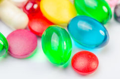 Pills isolated Royalty Free Stock Images