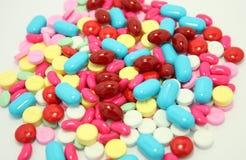 Pills isolated on white Stock Photos