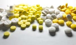 Pills isolated Stock Photos