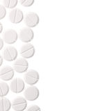 Pills isolated on a white background with space for text message Stock Image