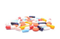 Pills isolated on white background Royalty Free Stock Images