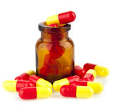 Pills in a jar Stock Image