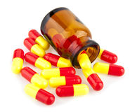 Pills in a jar Royalty Free Stock Photography