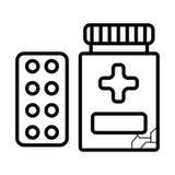 Pills line icon royalty free illustration