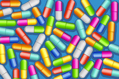 Pills a lot Royalty Free Stock Photography