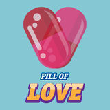 Pills of love. heart - Royalty Free Stock Image