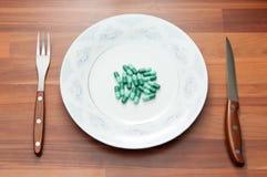 Pills meal Stock Photo