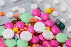 Pills. Medical / health-care concept: some medical colorful pills Stock Image