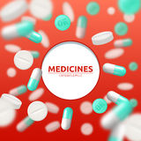 Pills Medical Illustration Stock Photography