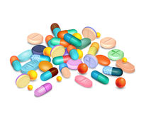 Pills Medical Realistic Composition Royalty Free Stock Photos