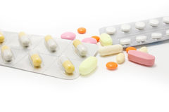 Pills medicine ISOLATED Stock Photo