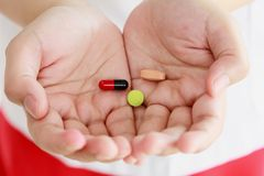 Pills medicine tablets Stock Images